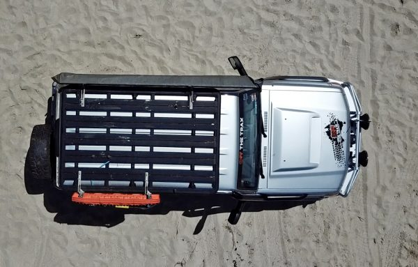 Aerial top down shot of Toyota Landcruiser 4x4 with Croc Hinge Mounting Bracket