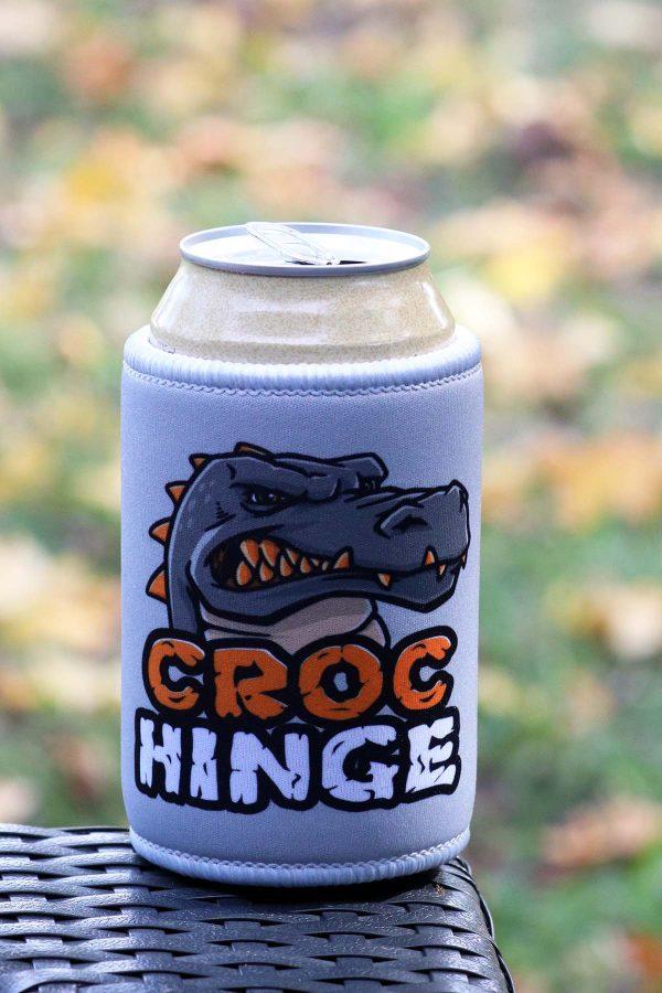 Croc Hinge branded stubbie cooler